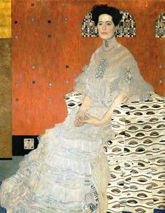 ruihenriquesesteves: Portrait of Frida Riedler, Gustav Klimt, 1906