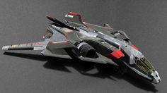 Star Citizen AEGIS Sabre - matte test version.