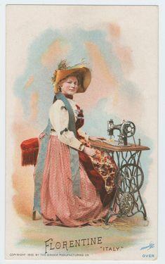 trade card Florentine Italy 1892