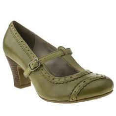 Womens Green Hush Puppies Lonna T-Bar High Heels | schuh