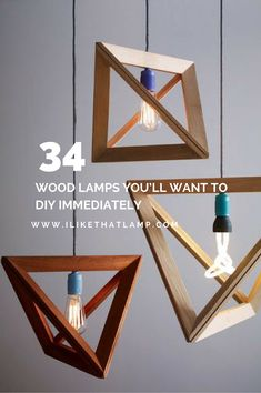 Wooden lighting Woodwork 34 Wood Lamps Youll Want To Diy Immediately See The Full List At Pinterest 132 Best Diy Wooden Lamp Ideas Images Light Design Diy Lamps