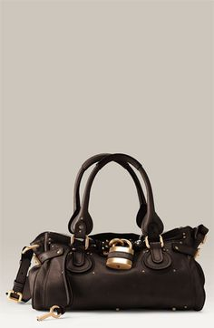 chloe paddington leather padlock satchel $1585.00