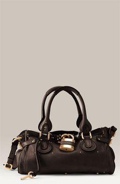 69d3d7a2b164 chloe paddington leather padlock satchel  1585.00 Chloe Paddington, Chanel  Handbags, Designer Handbags, Louis