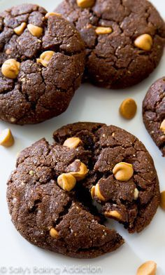 These thick and fudgy Flourless Peanut Butter Brownie Cookies are made with only 7 ingredients. Ultra chewy, melt-in-your-mouth, and gluten free!