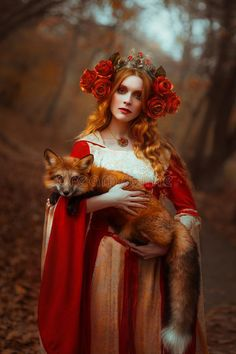 Woman In Medieval Clothes With A Fox Stock Photo - Image of orange, autumn: 109840522 Art Photography Women, Fantasy Photography, Animal Photography, Fairy Tale Photography, Fantasy Women, Fantasy Art, Deviantart Photography, Fox Stock, Images Esthétiques