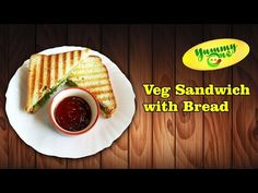 Preparing of Vegetable Sandwich With Bread..
