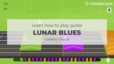 Guitar for a beginner. Learn Lunar Blues by The Yousicians guitar chords with Yousician. Guitar Power Chords, Easy Guitar Songs, Guitar Reviews, Learn To Play Guitar, Playing Guitar, Garageband, Blues, Teacher, Iphone App