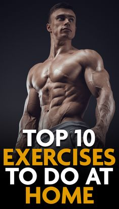 muscle fitness Who needs a gym Just workout from the comfort of your home with these 10 powerful and effective exercises that can help you burn fat and build muscle! Cardio Workout At Home, Gym Workouts, At Home Workouts, Workout Exercises, Workout Men, Workout Routines, Workout Motivation, Workout Fitness, Fitness Man