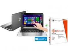 Notebook HP Pavilion 11-n127br x360 Intel Core M - 4GB 500GB + Pacote Aplicativo Office 365 Personal