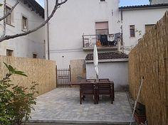 House in Corfinio, Abruzzo, Italy - Garden and patio http://www.ownersdirect.co.uk/italyb/IT11386.htm
