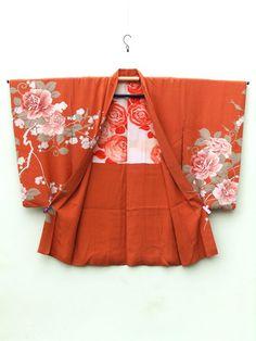 ☆ New Arrival ☆ 'Autumn Serenade' #Women's #rusty #orange #antique #silk #Japanese #haori #kimonojacket #peony & #plum #floral #design from #FujiKimono http://www.fujikimono.co.uk/fabric-japanese/autumn-serenade.html #Autumn #serenade #textile #costume #fashion #kawaii #cosplay