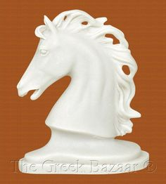 Horse Head Symbol of Power Freedom Courage Greek Marble Bust Statue | eBay