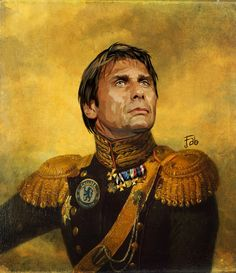 'Antonio Conte - Italy' Poster by pupazzaro Soccer Art, Football Art, Basketball Players, Chelsea Football Team, Chelsea Fc Players, Chelsea Champions, Antonio Conte, Soccer Skills, Football Pictures