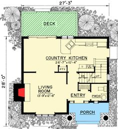Rustic 2 Bed Dacha House Plan - 43076PF | Cottage, Vacation, 2nd Floor Master Suite | Architectural Designs