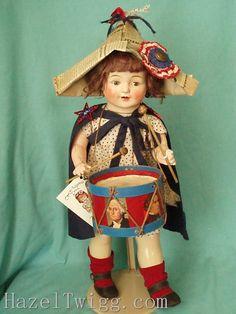 Hazel Twigg No 45 Drummer Girl Liberty Vintage Patriotic Composition Doll   eBay