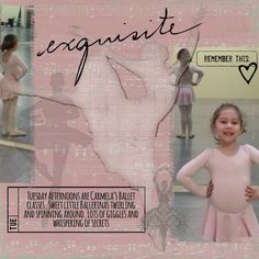 Products used- Liv.edesigns* PhotoStories-Krafty Papers(layered with the music paper by JessicaSprague-Beautiful Edvidence Class), Photo Captions, PhotoStories Journal Stamp,Scribbled Words Vol.2, Whole Lotta Love Heart, Damask Ballerina from Echo Park-Le Ballet