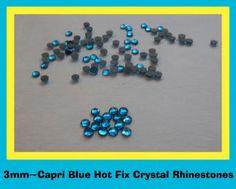 4003MMSS10CAPRI BLUEHOTFIX RHINESTONESIRON ONFLATBACK STONES