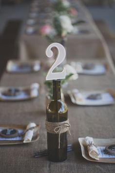 Rustic Wedding Table Numbers From Los Angeles Rustic Wedding With Amazing Details And Stunning Ideas