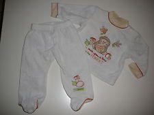 C & A Great Nikki Combi Size 68 Sweater + Pants Cream with Hedgehog Motif!!!