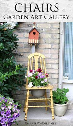 Gallery of garden art chair ideas - get ideas for your garden