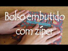 Bolso embutido com zíper ::: Dica de costura - YouTube