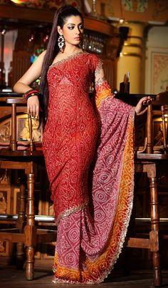 Gharchola sarees for indian bride Indian Beauty Saree, Indian Sarees, Silk Sarees, Indian Dresses, Indian Outfits, Collection Eid, Bandhini Saree, Rajputi Dress, India Fashion