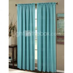 Contemporary Blue Window Curtains