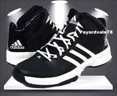 MEN'S SIZE 10 ADIDAS CROSS 'EM 3 BLACK / WHITE BASKETBALL SHOES SNEAKERS NEW  #