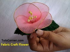 Fabric Craft Flower Tutorial