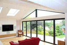 House Extension With Sliding Windows