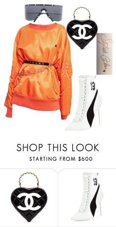 """""""Trick Or Treat🖤"""" by stylishglam ❤ liked on Polyvore featuring Chanel, Puma and Porsche Design"""