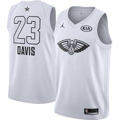 0593acded Nike Pelicans Anthony Davis White Youth NBA Jordan Swingman 2018 All-Star  Game Jersey