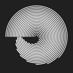 From http://p5art.tumblr.com/ #processing #animation black and white #circle #wave