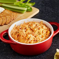 Check out this great recipe from Franks RedHot: Franks-Redhot-Mexican-Chicken-Dip Mexican Chicken Dip Recipe, Mexican Dip Recipes, Buffalo Chicken Nachos, Chicken Dips, Chicken Recipes, Cooking Chicken To Shred, How To Cook Chicken, Cooked Chicken, Appetizer Dips