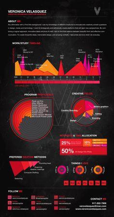 CV Infographic by Veronica Velasquez, via Behance