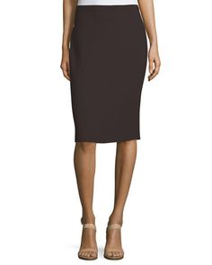 """Eileen Fisher crepe knit skirt, available in your choice of color. Approx. 24""""L…"""