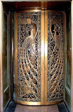 Peacock jewelry store Door by Atelier Teee, State Street,Chicago,Illionis,USA