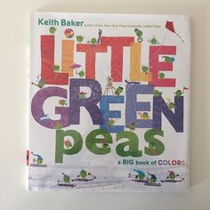 Little Green Peas. A big Book of Colors. #readthelibrary #colors #books #readtothem #littlegreenpeas