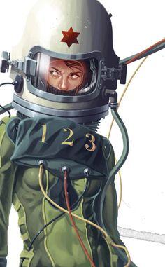 Astronauts by Derek Stenning.