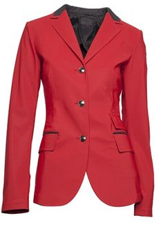 Cavalleria Toscana ladies technical unlined competition jacket in red