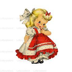 INSTANT DOWNLOAD littlegirl no.100W  So Cute for by Lollipopisland, $3.50