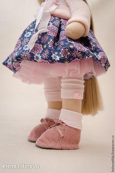 Купить Малышка ЕВА - бледно-розовый, розовый, сиреневый, ловандовый, фиолетовый, кукла, кукла на заказ