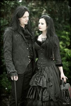 awww look at them: | For more goth fashion, follow http://www.pinterest.com/thevioletvixen/goth-girl/