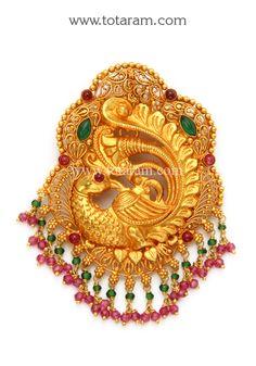 22K Gold Pendants - Diamond Pendants - Ruby & Emerald Pendants