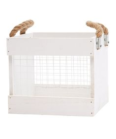 This Chicken Wire Crate by Hampton Art is perfect! #zulilyfinds