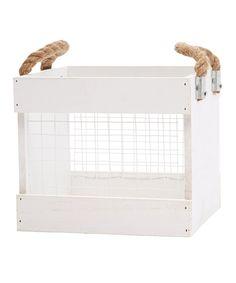 This Chicken Wire Crate by Hampton Art is perfect! #zulilyfinds