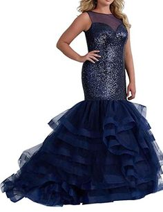 Amazing offer on Miao Duo Women?s Long Mermaid Sequins Plus Size Evening Prom Dresses Tulle Maxi Formal Ball Gowns online - Findhitstoday High Low Bridesmaid Dresses, One Shoulder Bridesmaid Dresses, Sequin Prom Dresses, Tulle Prom Dress, Evening Dresses, Party Gowns, Formal Gowns, Fit Flare Dress, Women's Fashion Dresses