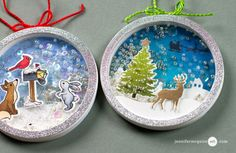 Shaker Ornament Video by Jennifer McGuire Ink