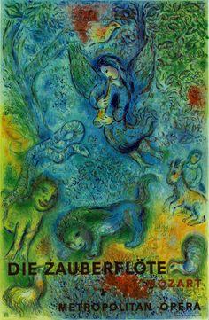Giclee Print: Die Zauberflöte (The Magic Flute)- Mozart- Metropolitan Opera by Marc Chagall : Marc Chagall, Artist Chagall, Chagall Paintings, 4 Image, The Magic Flute, Metropolitan Opera, Exhibition Poster, Pablo Picasso, Art Auction
