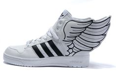 dd12c8f4700e76 Adidas Jeremy Scott Wings Shoes 2.0 White Black Adidas Stan Smith Kids